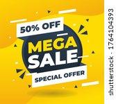 mega sale special offer end... | Shutterstock .eps vector #1764104393