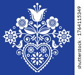 scandinavian retro folk art... | Shutterstock .eps vector #1764115349