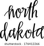 north dakota | Shutterstock .eps vector #176412266