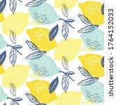 hand drawn doodle lemonade... | Shutterstock .eps vector #1764152033