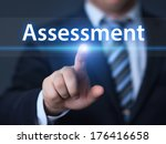 Small photo of business, technology, internet and networking concept - businessman pressing assessment button on virtual screens