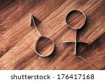 male and female gender symbols  ... | Shutterstock . vector #176417168