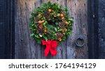 Christmas Door Wreath  A...