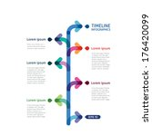 timeline infographics with... | Shutterstock .eps vector #176420099