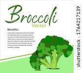 vegetable vector   broccoli...   Shutterstock .eps vector #1764217139