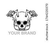 biker's of skull ilustrator... | Shutterstock .eps vector #1764220370