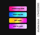 colorful web buttons set vector
