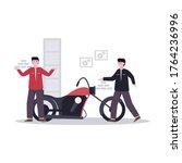 flat vector illustration of...