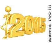 leaning on 2015   Shutterstock . vector #176424536