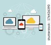 cloud computing concept on... | Shutterstock . vector #176426390
