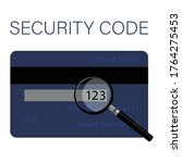 csv security code is located on ...   Shutterstock .eps vector #1764275453