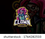 clown mascot sport logo design. ... | Shutterstock .eps vector #1764282533