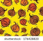 brown onion seamless pattern on ...