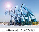 oil pumps. oil industry...   Shutterstock . vector #176429420