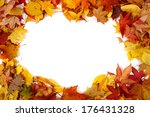 Autumn Leaves Background  Frame