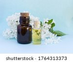 two glass bottles with... | Shutterstock . vector #1764313373