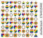 lgbt flag shapes. forms of... | Shutterstock .eps vector #1764315440