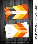 arrow style business card... | Shutterstock .eps vector #176432804
