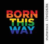 lgbtq plus rainbow flag lesbian ...   Shutterstock .eps vector #1764328286