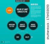 modern organizational chart on... | Shutterstock .eps vector #176433050