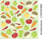vegetables background pattern... | Shutterstock .eps vector #176433380