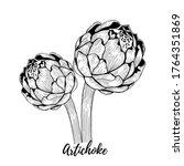 artichoke vector illustration...   Shutterstock .eps vector #1764351869