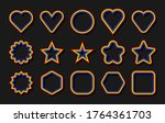 lgbt flag. circle  star ... | Shutterstock .eps vector #1764361703