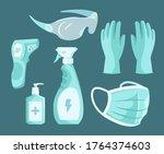 essential gears for fighting... | Shutterstock . vector #1764374603