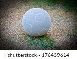 Old Futsal  On  Dried Grass