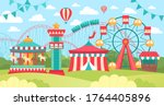 brightly colored scene in an... | Shutterstock .eps vector #1764405896