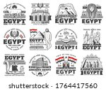 egypt vector icons of culture ... | Shutterstock .eps vector #1764417560