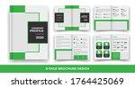 creative business bi fold... | Shutterstock .eps vector #1764425069