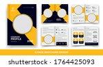 creative business bi fold... | Shutterstock .eps vector #1764425093
