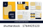 creative business bi fold... | Shutterstock .eps vector #1764425123
