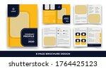 creative business bi fold... | Shutterstock .eps vector #1764425123
