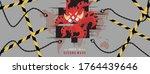 second wave of coronavirus or... | Shutterstock .eps vector #1764439646