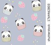 Cute Panda Cupcake With...
