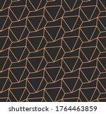 repeat wave graphic hexagon... | Shutterstock .eps vector #1764463859