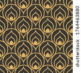repetitive ornate graphic... | Shutterstock .eps vector #1764463880