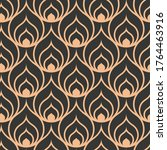 continuous tileable graphic arc ... | Shutterstock .eps vector #1764463916
