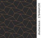 repeat tileable vector hex... | Shutterstock .eps vector #1764464150