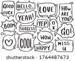hand drawn background set of... | Shutterstock .eps vector #1764487673