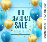 big seasonal final sale text ... | Shutterstock .eps vector #1764503750