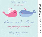 wedding invitation with two... | Shutterstock .eps vector #176450864