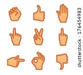 hand gestures  icons    Shutterstock .eps vector #176454983