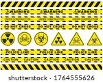 seamless security yellow black... | Shutterstock .eps vector #1764555626