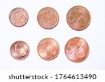 1  2 And 5 Cent Copper Coins...
