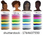 seasonal color analysis. set of ... | Shutterstock .eps vector #1764637550