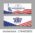 celebration flag of america...   Shutterstock .eps vector #1764652853