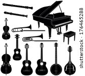 music instruments collection  ... | Shutterstock .eps vector #176465288